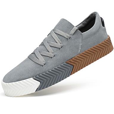 Herrn Schuhe PU Frühling / Herbst Komfort Sneakers Schwarz / Grau / Khaki