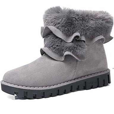 Damskie Obuwie Trykot Zima Jesień Śniegowce Modne obuwie Kozaki na obcasie Obuwie w stylu wojskowym Buciki Kozaki do połowy łydki na