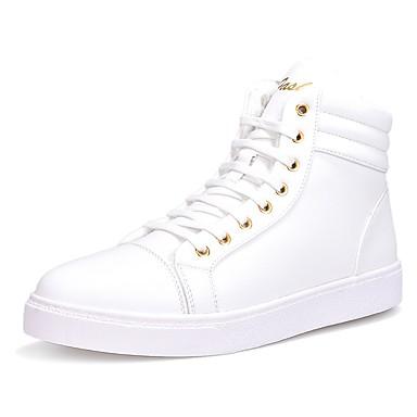 Męskie Komfortowe buty Sztuczna skóra Wiosna / Jesień Tenisówki Biały / Czarny