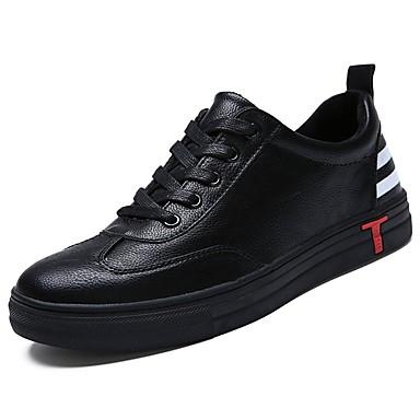 Męskie Buty Guma Zima Comfort Tenisówki na Na wolnym powietrzu Black Czerwony