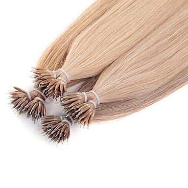 Neitsi Micro Extensão em Anel Extensões de cabelo humano Liso Extensões de Cabelo Natural Cabelo Humano Nano Mulheres