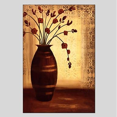 Ręcznie malowane Martwa natura Pionowo Panoramiczny, Nowoczesny Brezentowy Hang-Malowane obraz olejny Dekoracja domowa Jeden panel
