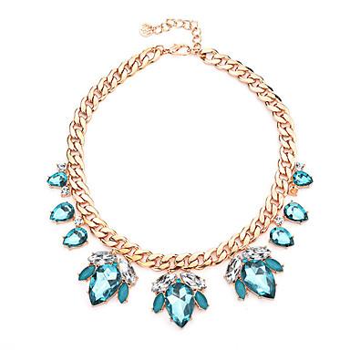 Damskie Kryształ, Rhinestone Naszyjniki z wisiorkami - Kryształ Light Blue