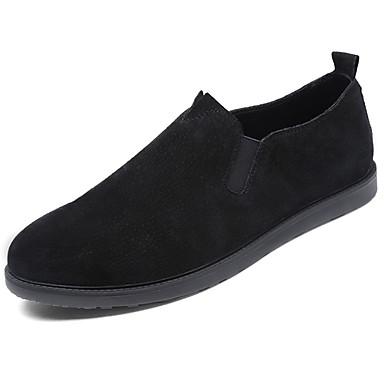 Męskie Buty PU / Skóra Wiosna / Jesień Comfort Mokasyny i pantofle Black / Gray / Khaki