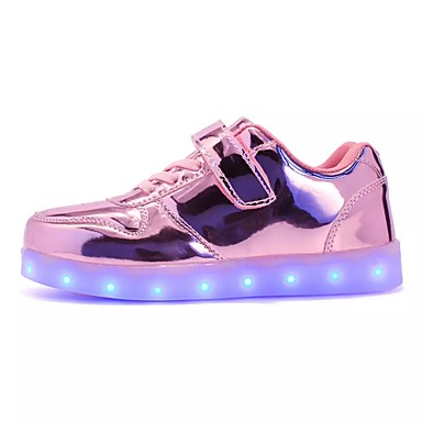 povoljno Dječje cipele-Djevojčice PU Sneakers Mala djeca (4-7s) / Velika djeca (7 godina +) Udobne cipele / Svjetleće tenisice Vezanje / LED Zelen / Pink / Navy Plava Jesen / Zima / TR / EU36