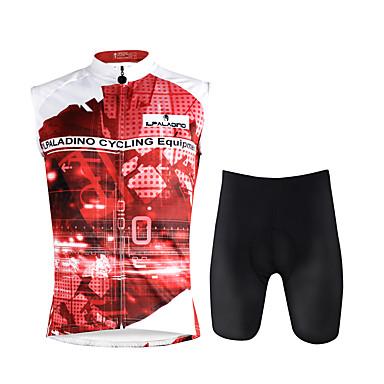 ILPALADINO Męskie Bez rękawów Koszulka z szortami na rower - Dark Pink Tęczowy Rower Kamizelka Spodenki snowboardowe Zestawy odzieży,