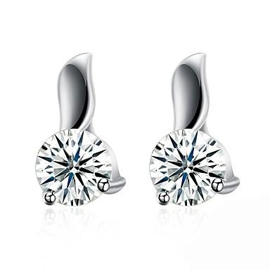 Damen Tropfen-Ohrringe - Zirkon, Silber Silber