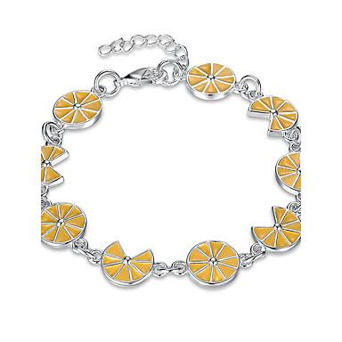 Damen Ketten- & Glieder-Armbänder / Bettelarmbänder - versilbert Retro, Böhmische, Europäisch Armbänder Gelb Für Party / Geschenk