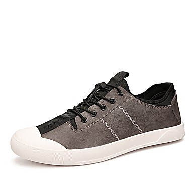 Męskie Buty Nappa Leather Wiosna / Jesień Comfort Tenisówki Black / Gray / Czerwony