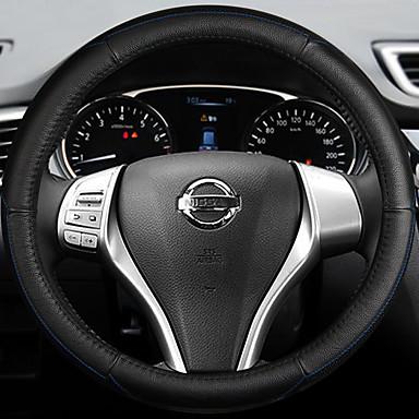رخيصةأون اكسسوارات السيارات الداخلية-أغطية إطارات القيادة جلد 38cm أزرق / أبيض / أحمر من أجل نيسان Teana 2013