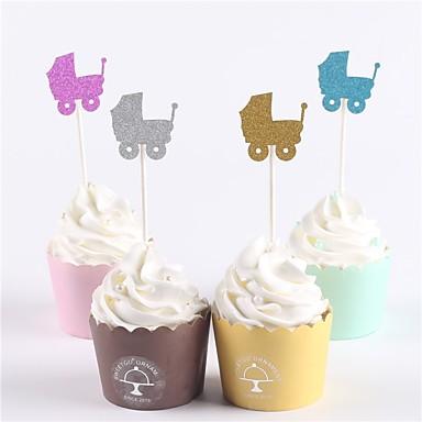 Figurki na tort Klasyczny styl / Baby Shower / Noworodek Papierowy Impreza / Urodziny z 12 pcs OPP