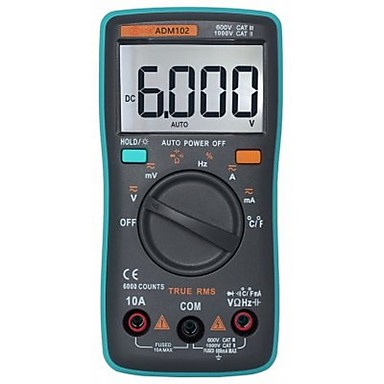 ZT102 Digital Multimeter 6000 Counts Auto Range- GREEN #06370367