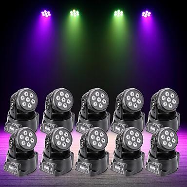U'King 10pcs Oświetlenie LED sceniczne DMX 512 Master-Slave Aktywowana Dźwiękiem Auto 70 na Klub Ślub Scena Impreza Obuwie turystyczne