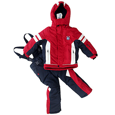 Phibee Dla dzieci Kurtka i spodnie narciarskie Ciepły Wodoodporny Wiatroodporna Zdatny do noszenia Narciarstwo Poliester