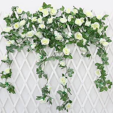 Sztuczne Kwiaty 1 Gałąź Pasterski Styl Róże Bukiety na stół