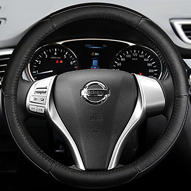Steering Wheel Covers Leather 38cm Blue / White / Red For Nissan Teana 2013