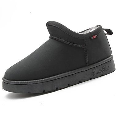 Damen Schuhe Kaschmir Winter Modische Stiefel Stiefel Runde Zehe Booties / Stiefeletten Für Normal Schwarz Grau