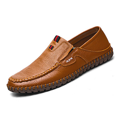 Męskie Buty Derma Skóra Wiosna Lato Comfort Mokasyny i pantofle na Casual White Black Brown Niebieski