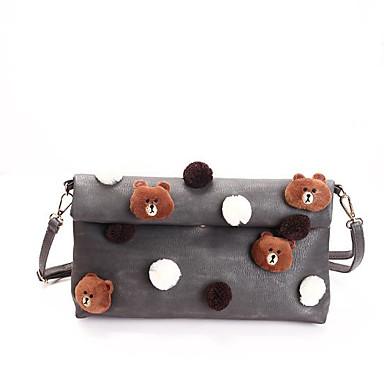 Damen Taschen PU Schultertasche Taschen für Normal Winter Herbst Schwarz Militßrgrün Grau Braun