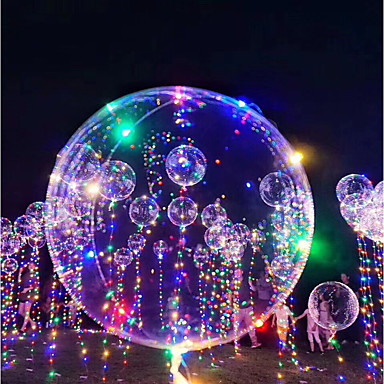 voordelige Ballonnen-3M 18Inch LED-verlichting Ballonnen LED-ballonnen Vakantie Romantiek Verjaardag Valaistus Hervulbaar Glow in the dark Kinderen Volwassenen Jongens Meisjes Speeltjes Geschenk / Nieuw Design