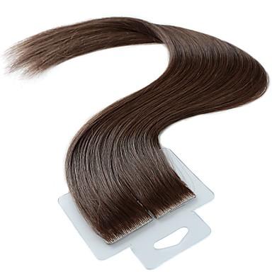 taśma w ludzkich przedłużeniach włosów brazylijski włosy remy ludzkie włosy proste damskie 1 pack świąteczny wesele specjalne okazje halloween