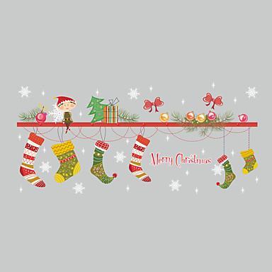 Święta Bożego Narodzenia Rysunek Naklejki Naklejki ścienne lotnicze Dekoracyjne naklejki ścienne, Winyl Dekoracja domowa Naklejka Ściana