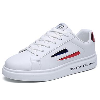 Męskie Buty PU Wiosna / Jesień Comfort Tenisówki Czerwony / Black / White / White / Blue