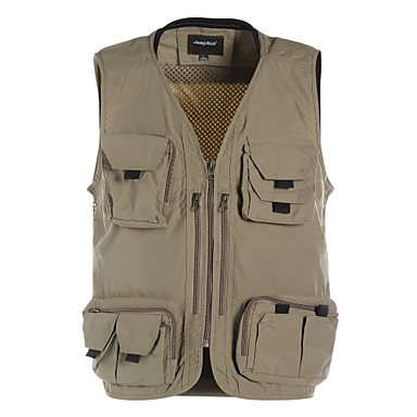Hunting Gilet Waterproof Thermal / Warm Quick Dry Ultraviolet Resistant Rain-Proof Front Zipper Anti-Insect Wearable Breathable