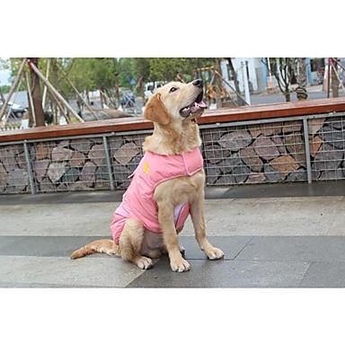 Kot Pies Yelek Ubrania dla psów Jendolity kolor Czerwony Niebieski Różowy Bawełna Kostium Dla zwierząt domowych Zatrzymujący ciepło