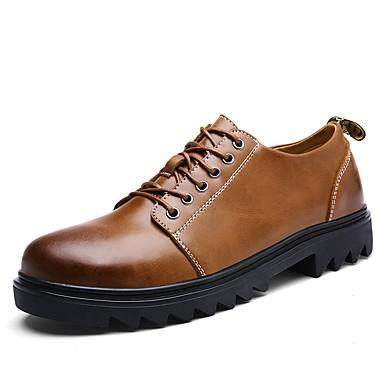 Męskie Komfortowe buty Derma Jesień Adidasy Czarny / Jasnobrązowy / Ciemnobrązowy