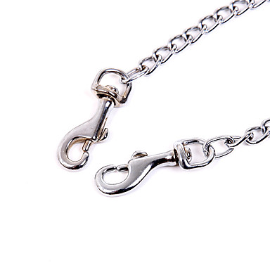 Dog Leash Walking Solid Alloy Silver 6355382 2019