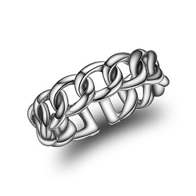 Damskie mankiet Pierścień Silver Srebrny Twist Circle Modny Koreański Inny Codzienny Biżuteria kostiumowa