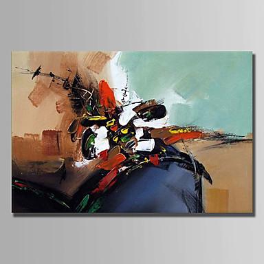 Hang-Malowane obraz olejny Ręcznie malowane - Streszczenie Prosty Brezentowy