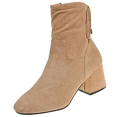 Damen Schuhe Gummi Winter Modische Stiefel Stiefel Spitze Zehe Reißverschluss Für Schwarz Khaki