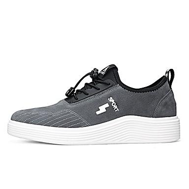 Herren Schuhe PU Frühjahr, Herbst, Winter, Sommer Komfort Leuchtende Sohlen Sneakers Für Normal Schwarz Grau Khaki