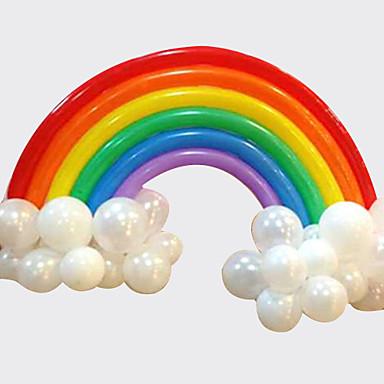 ieftine Holiday Decorations-balonul curcubeu set ziua de nastere nunta deco (20 baloane lungi 16 baloane rotunde)