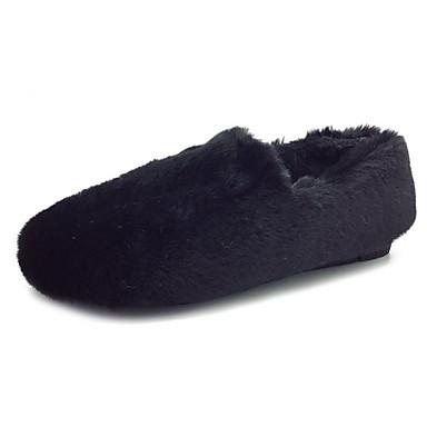 Damskie Obuwie PU Wiosna / Jesień Comfort Mokasyny i pantofle White / Black / Khaki