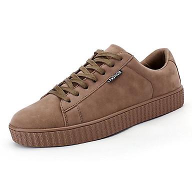 Herren Schuhe Schweineleder Frühling Herbst Komfort Sneakers Für Normal Schwarz Grau Braun