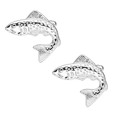 Ośmiornica Silver Manžetové knoflíčky Miedź Wzór zwierzęcy Party Wieczór Męskie Biżuteria kostiumowa