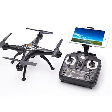RC Drone X5SW-1 4CH 6 Axis 2.4G With HD Camera 1.0MP 1080P*720P RC Quadcopter LED Lights / One Key To Auto-Return / Failsafe RC