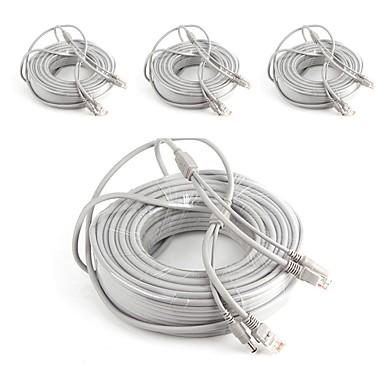 Kable 4PCS 164ft CCTV RJ45 Video Network Cable DC Power Camera Extension na Bezpieczeństwo systemy 5000cm 4.2kg