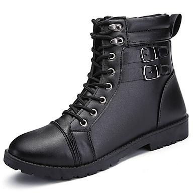 Męskie Buty Nappa Leather Zima Obuwie w stylu wojskowym Buciki Null Null / na Na wolnym powietrzu Black Brown