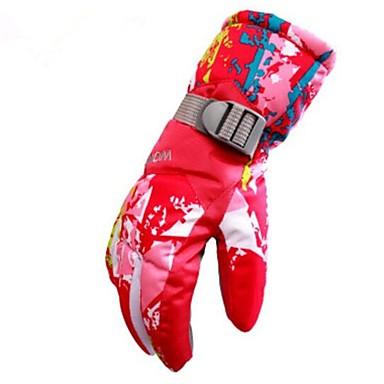 Rękawice narciarskie Rękawiczki zimowe Damskie Skóra Full Finger Keep Warm Wiatroodporna Przepuszczalność wilgoci Oddychający Narciarstwo