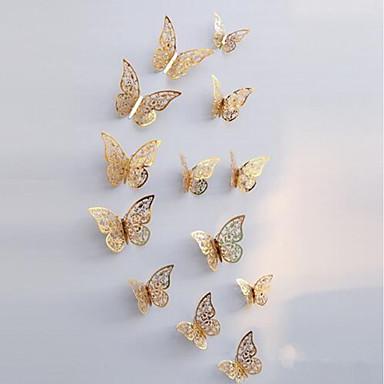 Zwierzęta Naklejki Naklejki ścienne 3D Dekoracyjne naklejki ścienne, Papierowy Dekoracja domowa Naklejka Ściana Lodówka