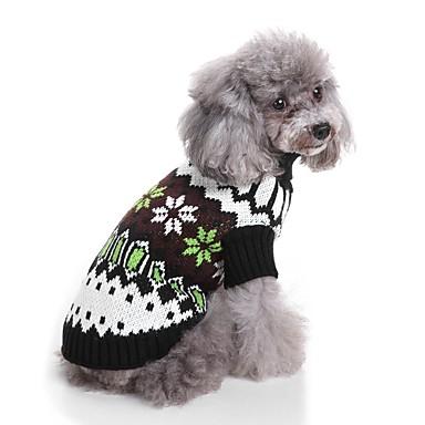 Kot Pies Swetry Ubrania dla psów Wielokolorowa Black Włókna akrylowe Kostium Dla zwierząt domowych Męskie Damskie Codzienne Lolita