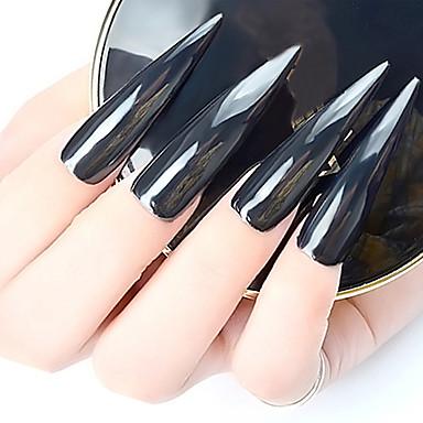 1 stücke aurora schwarz spiegeleffekt nagel glitter reines schwarz licht 1g / flasche spiegel pulver nagel schmuck