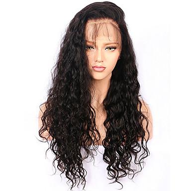 Włosy remy Koronkowy przód Peruka Włosy chińskie Water Wave Z baby hair 130% Gęstość 100% Dziewica Peruka afroamerykańska Naturalna linia