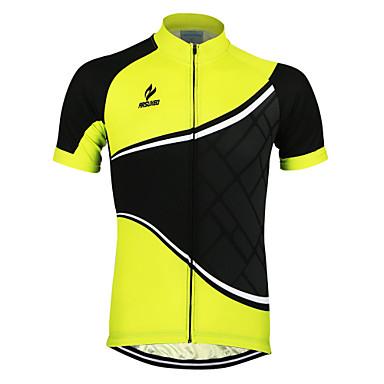 Arsuxeo Koszulka rowerowa Męskie Z krótkim rękawem Rower Koszulka TopyQuick Dry Anatomiczny kształt Przód Zipper Oddychający Odblaskowe