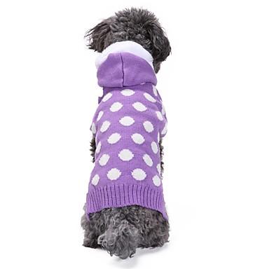 Kot Pies Płaszcze Swetry Bluzy z kapturem Ubrania dla psów Groszki Purple Spandex Pościel i Cotton Mieszanka Chinlon Kostium Dla zwierząt