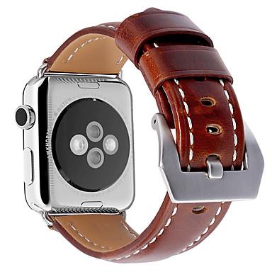 Watch Band na Apple Watch Series 3 / 2 / 1 Apple Bransoletka skórzana Skóra naturalna Opaska na nadgarstek